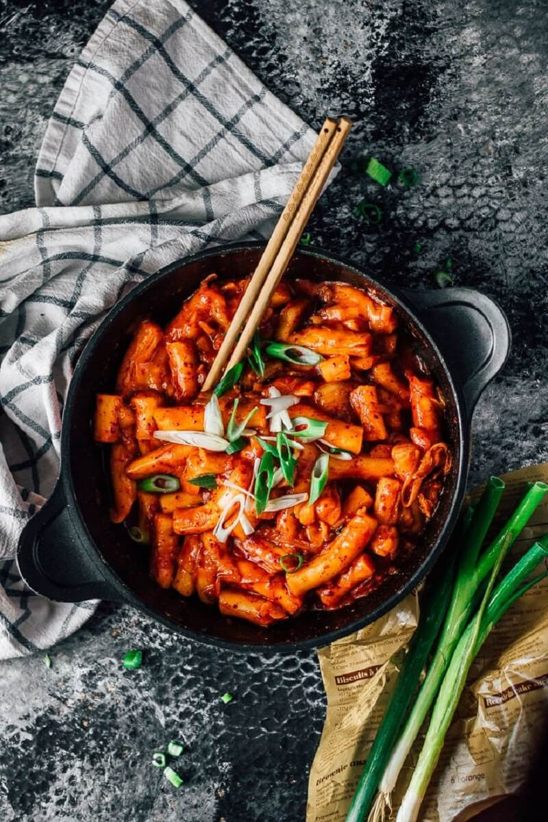 Bánh gạo cay Hàn Quốc thành phẩm